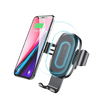 Wireless Car Charger Mount, Baseus Gravity Car Mount Air Vent Phone Holder, 10W Charge for Samsung Galaxy S8 S7/S7 Edge, Note 8 5, Standard Charge for ...