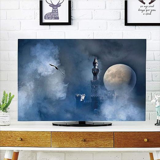 Funda para televisor LCD, diseño de fantasía, Castillo sobre Nubes ...