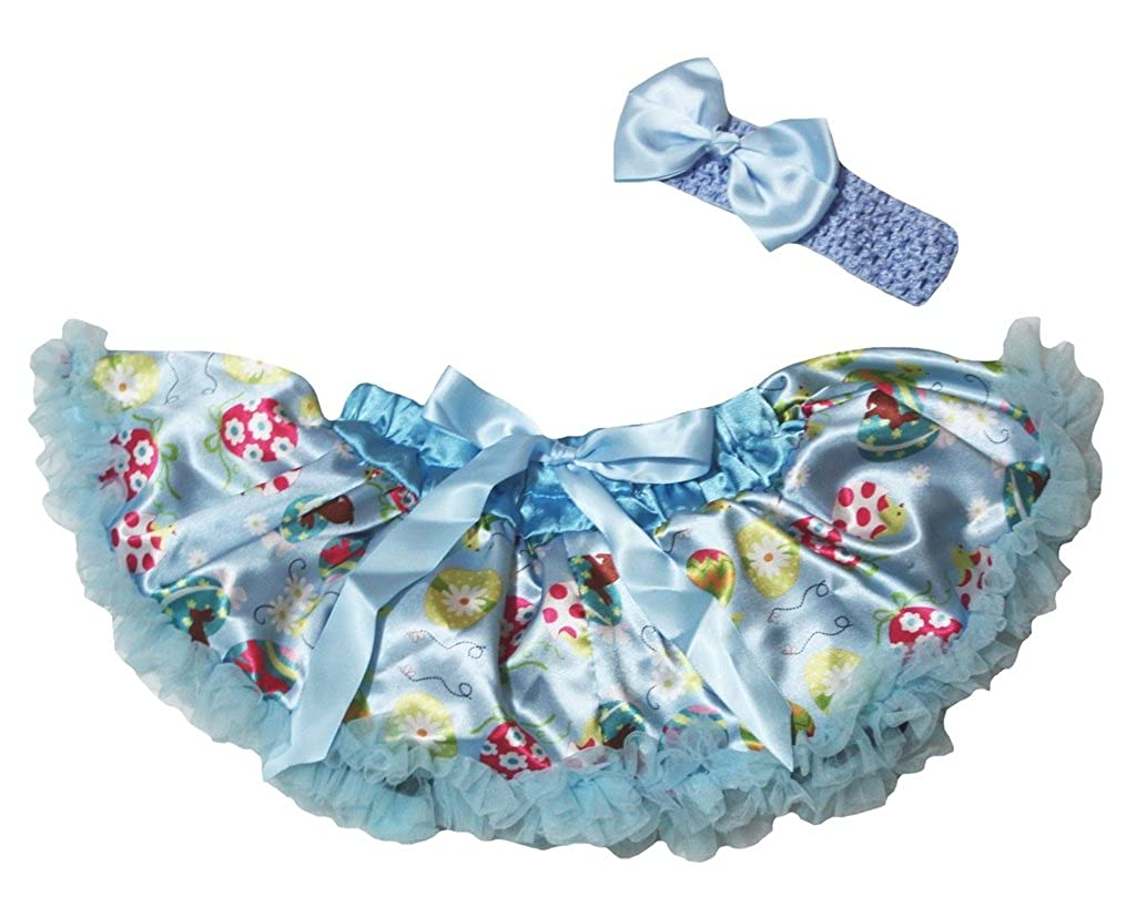 Petitebella Blue Easter Eggs Newborn Baby Pettiskirt Girl Tutu 3-12m