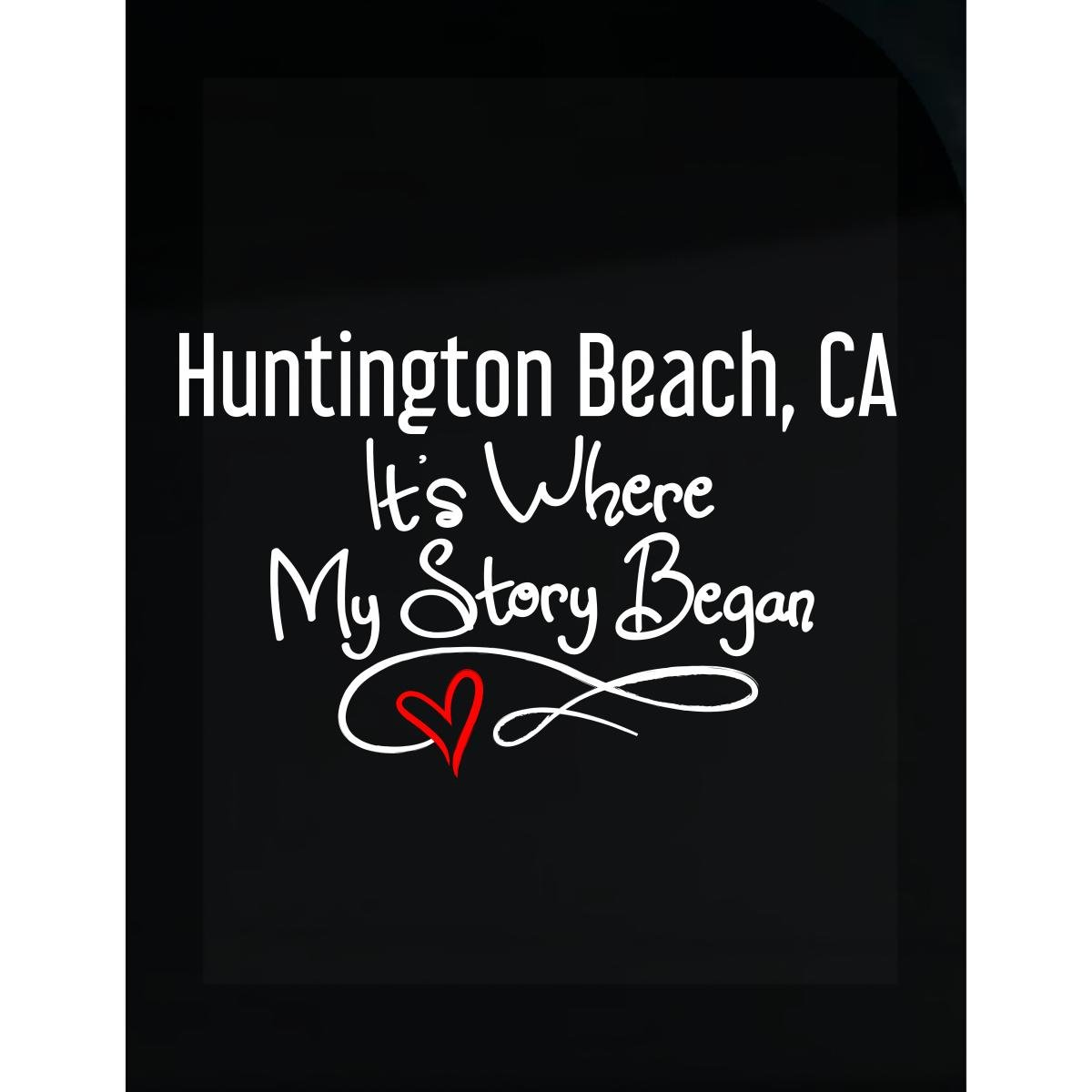 Amazon com huntington beach ca where my story began hometown home city birth sticker home kitchen