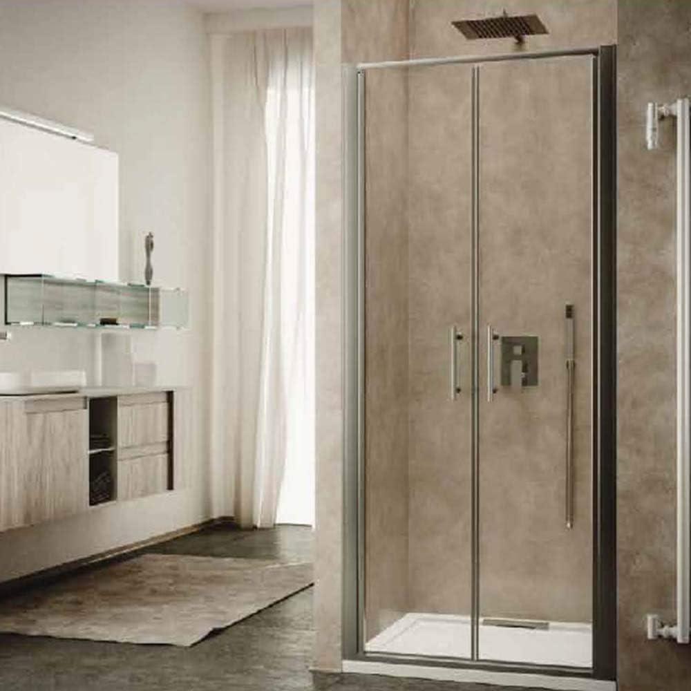 Mampara de ducha con puerta de salón de cristal templado de 6 mm – 100 x 190 cm (extensión 96 ÷ 100 cm): Amazon.es: Bricolaje y herramientas