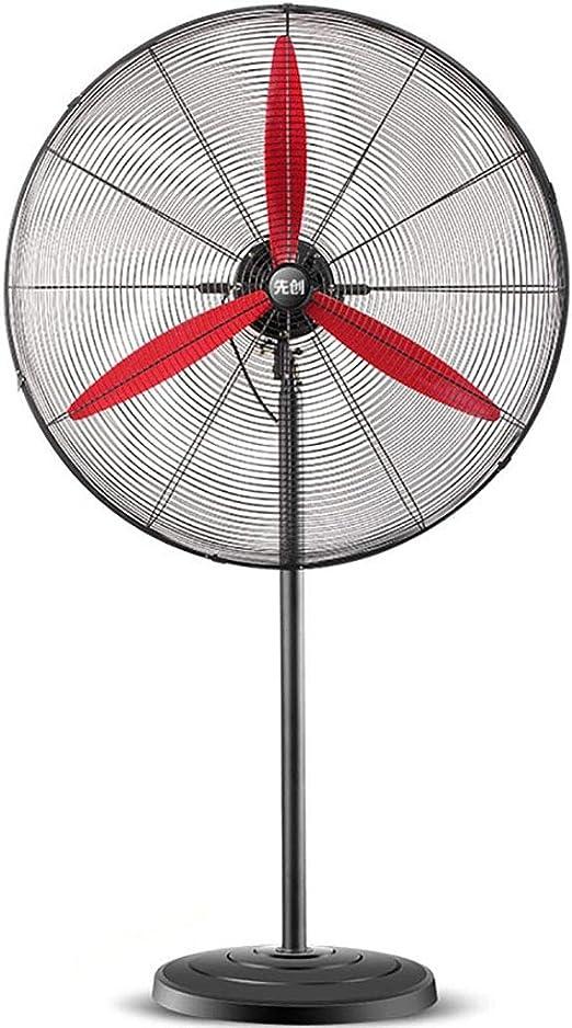YiYi fan Ventilador eléctrico/Ventilador Industrial/Ventilador de Pedestal/ Ventilador de pie/Alta Potencia Volumen de Aire Comercial Rojo Hoja de Ventilador Cuerpo Negro: Amazon.es: Hogar
