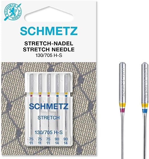 Schmetz – 5 agujas de Stretch – 130/705 H de S – Nm 75 – 90//11 ...