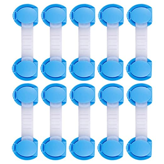 10 cierres de seguridad, plástico alargado, seguro para bebé ...
