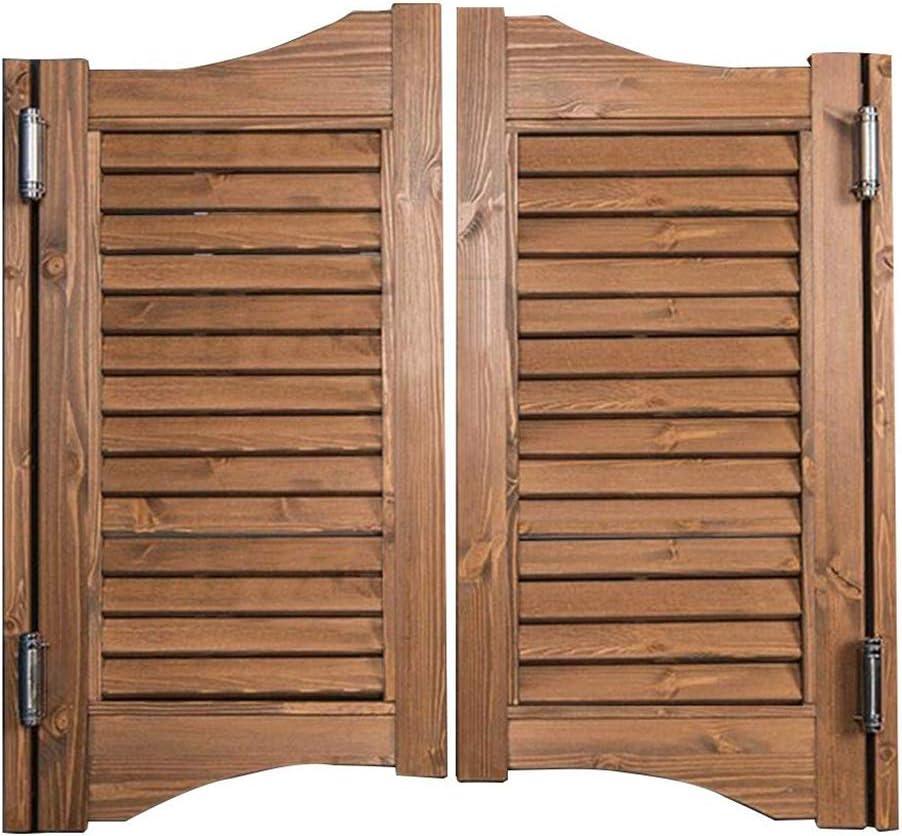 Puertas abatibles para café, rejilla interior Puerta de madera Bar Bar Pub Cierre automático de puerta de salón, refuerza la puerta abatible de partición de balcón duradera-Incluye todas las bisagra: Amazon.es: Hogar