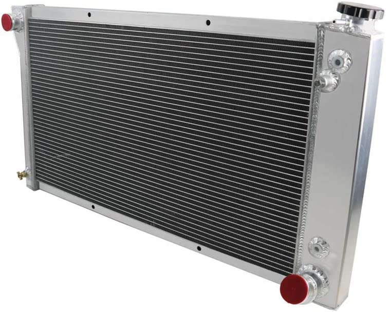 OzCoolingParts 67-72 Chevy & GMC C/K/P Series Radiator, 3 Row Core Aluminum Radiator For 1967-1972 1968 1969 70 71 Chevy Blazer C10 C20 C30 K15 K20 K30 P10 P20 P30 Pickup Truck L6 V8 Gas
