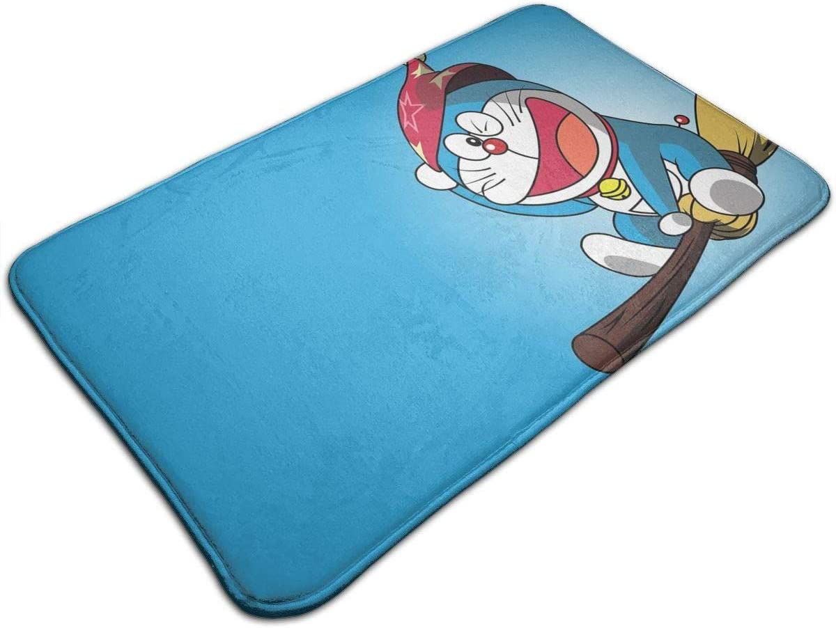 Yang Alfombra de baño (40 x 60 cm), Extra Suave y Absorbente, Lavable a máquina/seco, Alfombrillas para bañera, Ducha y baño, Doraemon Volador