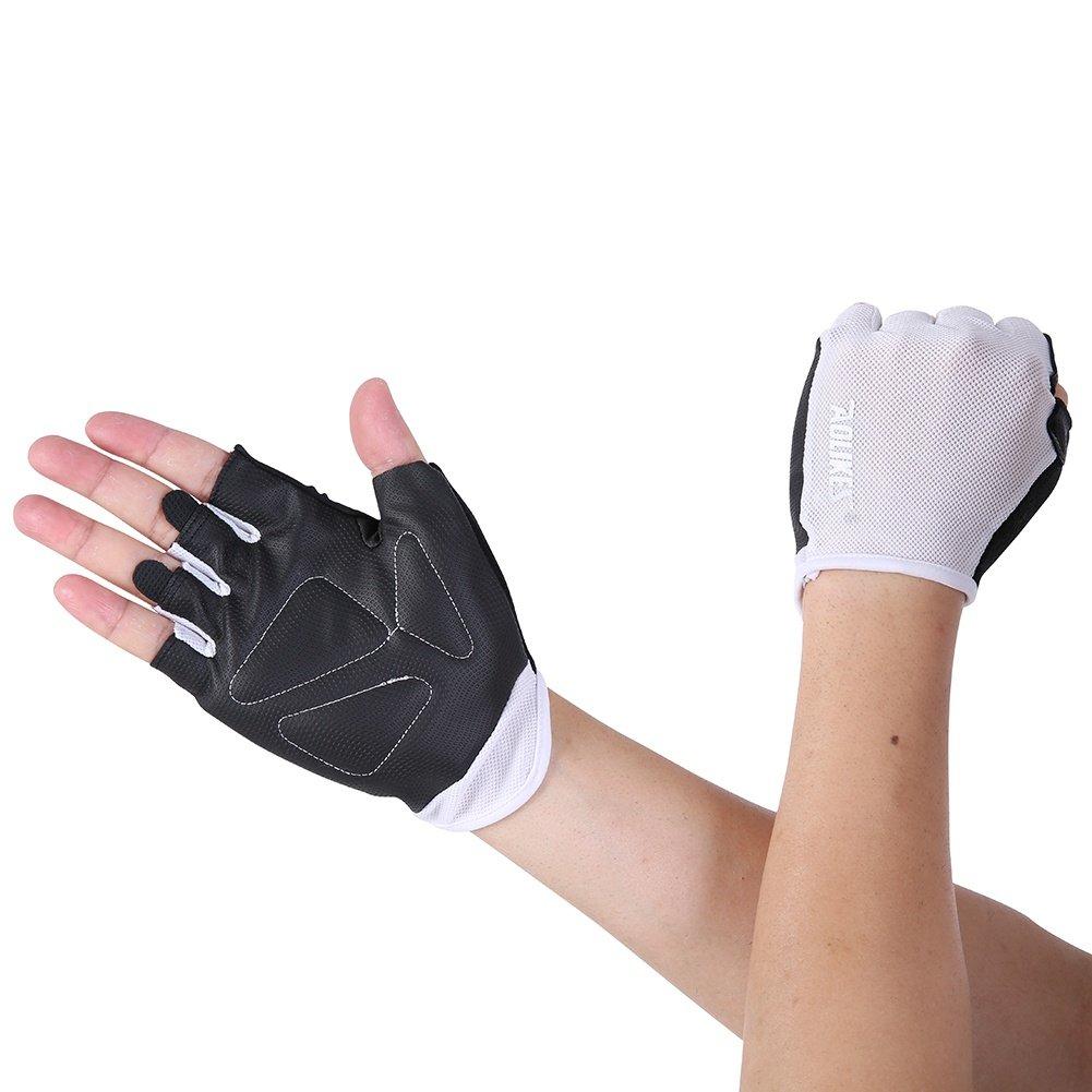 Bornbayb Men's Women's Non-Slip Fitness Gloves Outdoor Sports Gloves Half Finger Gloves