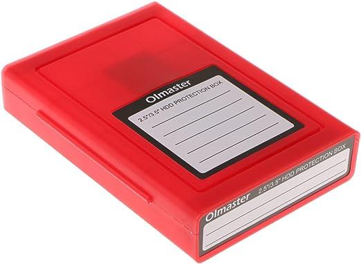 2.5 / 3.5インチ ハードディスクドライブ hdd 収納ボックス - レッド
