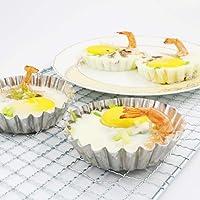 BESTONZON 10pcs Egg Tart Mold Mini Cupcake Cookie Pudding Mold Muffin Baking Cups