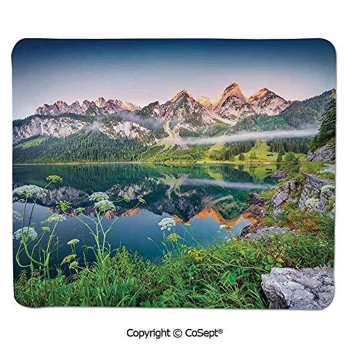 Ergonomic Mouse pad,Misty Summer Morning on Austrian Alps
