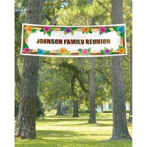 Amscan Hot Luau Personalized Giant Party Sign Banner, 65