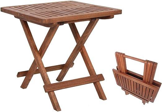 Benelando Mesa Auxiliar Plegable/Mesa de jardín/Mesa de Madera de ...