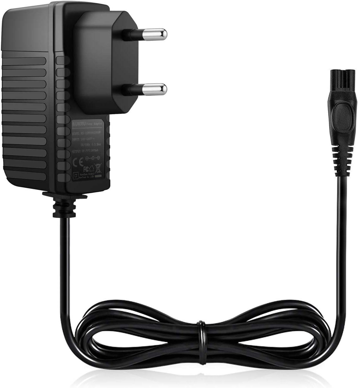 Aukru Cargador de Fuente de alimentación 15V para Philips afeitadora eléctrica 9195XL, 9190XL, 9170XL, HQ8100, HQ8250 ect.: Amazon.es: Electrónica