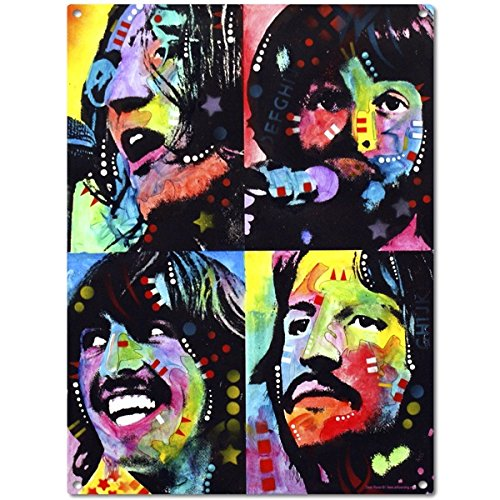 Beatles Let It Be Pop Art Metal Sign 12 x 16 in.
