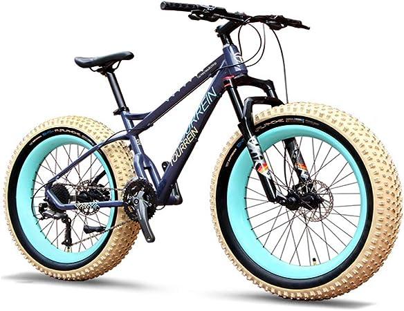 NENGGE 27 Velocidades Bicicleta Montaña, 26 Pulgadas Adulto Hombres Mujeres Hard Tail Bicicleta, Neumático Gordo MTB, Bicicleta BTT,A: Amazon.es: Hogar