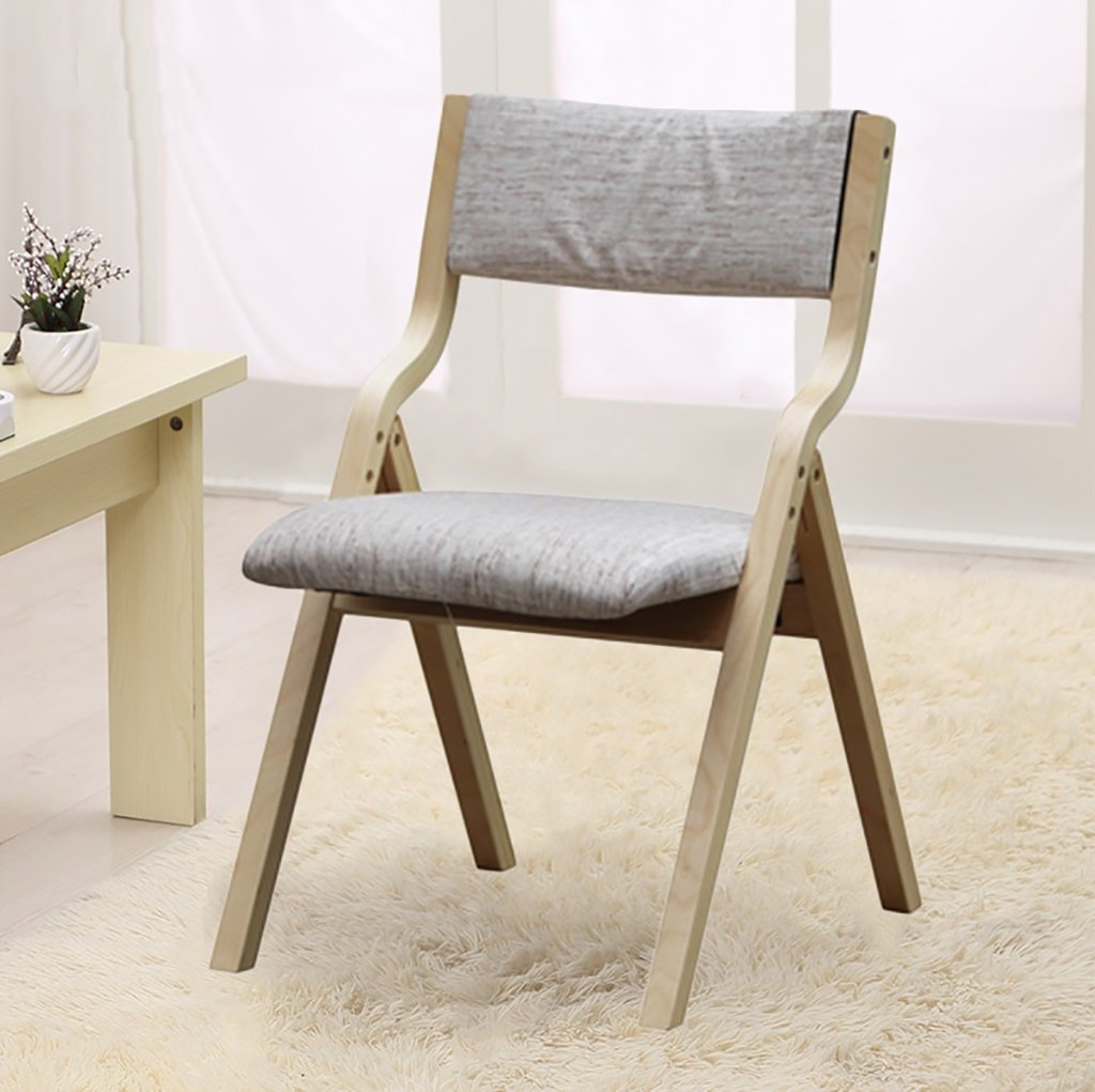 折りたたむ椅子 布のダイニングチェアモダンシンプルな背もたれの椅子レジャーのコンピュータチェアの折り畳み式ホームソリッドウッドの椅子は洗濯可能 折りたたみチェア (色 : E) B07BS6R9FT E E