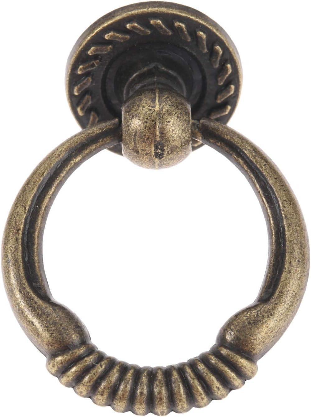 Gaodpz 1pc 43x37mm antike Bronze M/öbel Kabinett Kn/öpfe und Griffe K/üchenschubladenschrank Ring Pull Griffe M/öbelbeschl/äge