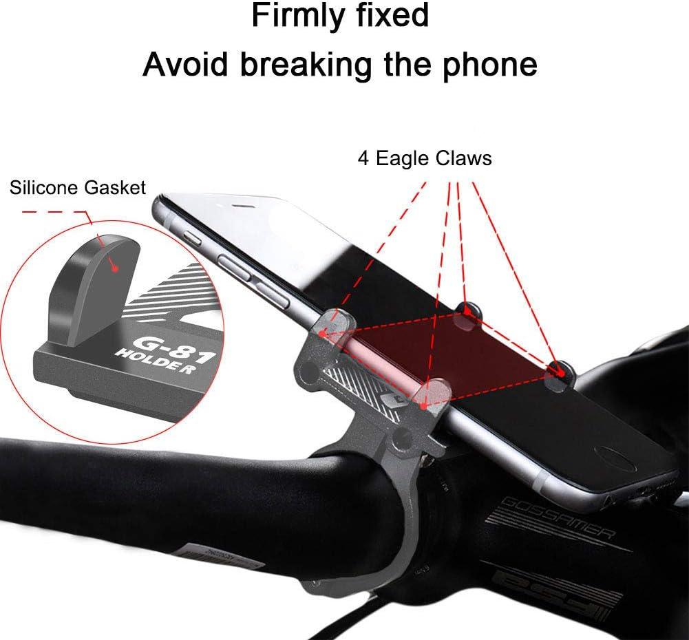 Accesorios Patinete Electrico para iPhone Soporte Movil Bicicleta Monta/ña Samsung etc. Soporte Movil Moto Aluminio Huawei Portamoviles Bicicleta Sin Ruidos Soporte Bici Movil Anti Vibraci/ón