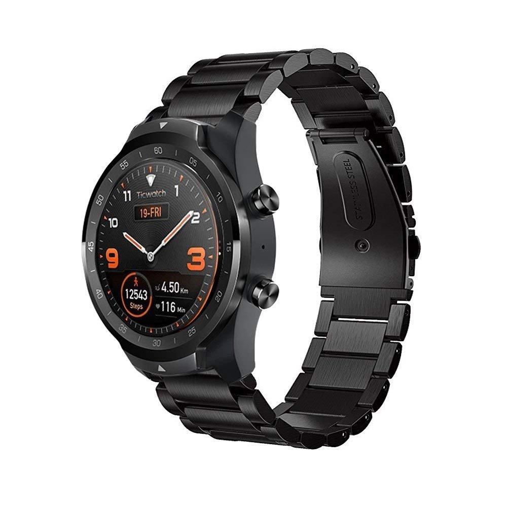 Ceston Metalica Acero Clásico Correas para Smartwatch TicWatch Pro ...