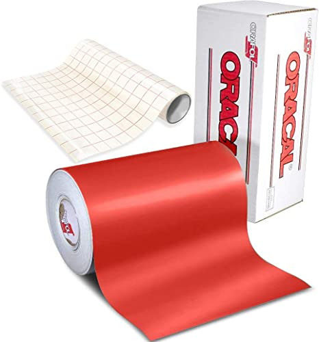 ORACAL 651 Black Matte Self-Adhesive Craft Vinyl 12 x 6ft Roll Including Roll of Clear Transfer Paper