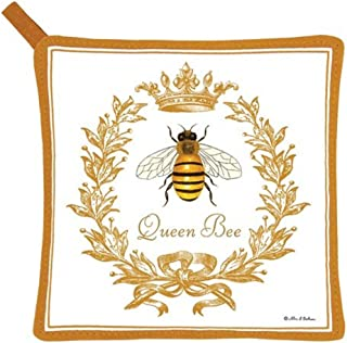 product image for Alice's Cottage Queen Bee Cotton Pot Holder, New
