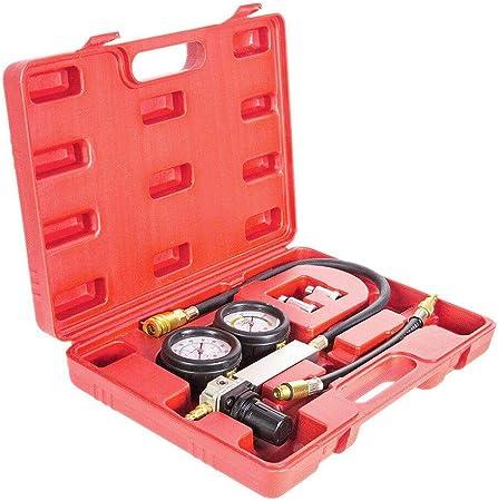 PARTS-DIYER 0-100 PSI Engine Cylinder Leak Tester Kit Compression Gauge Test Set w//Gauge