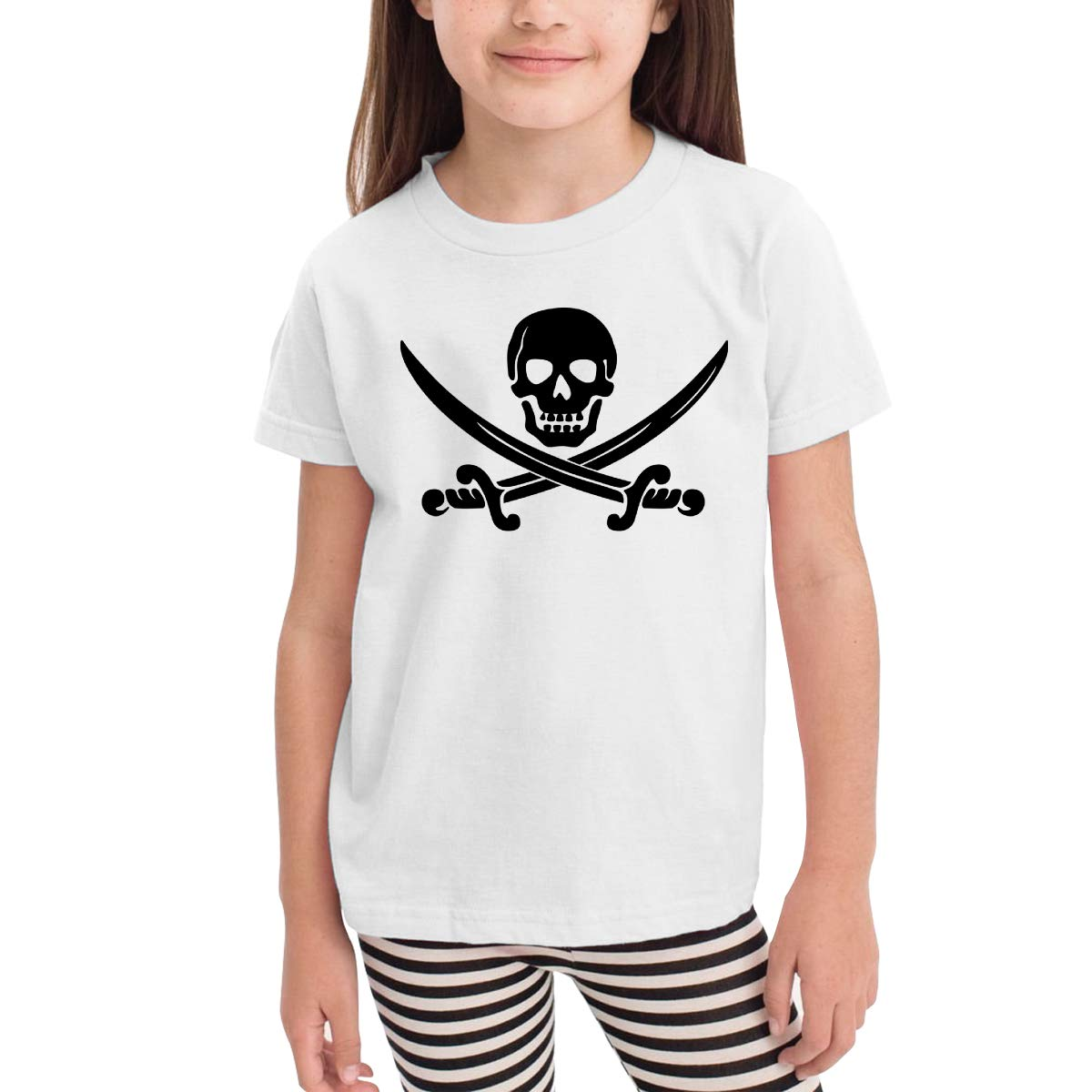 Onlybabycare Black Skull 100/% Cotton Toddler Baby Boys Girls Kids Short Sleeve T Shirt Top Tee Clothes 2-6 T