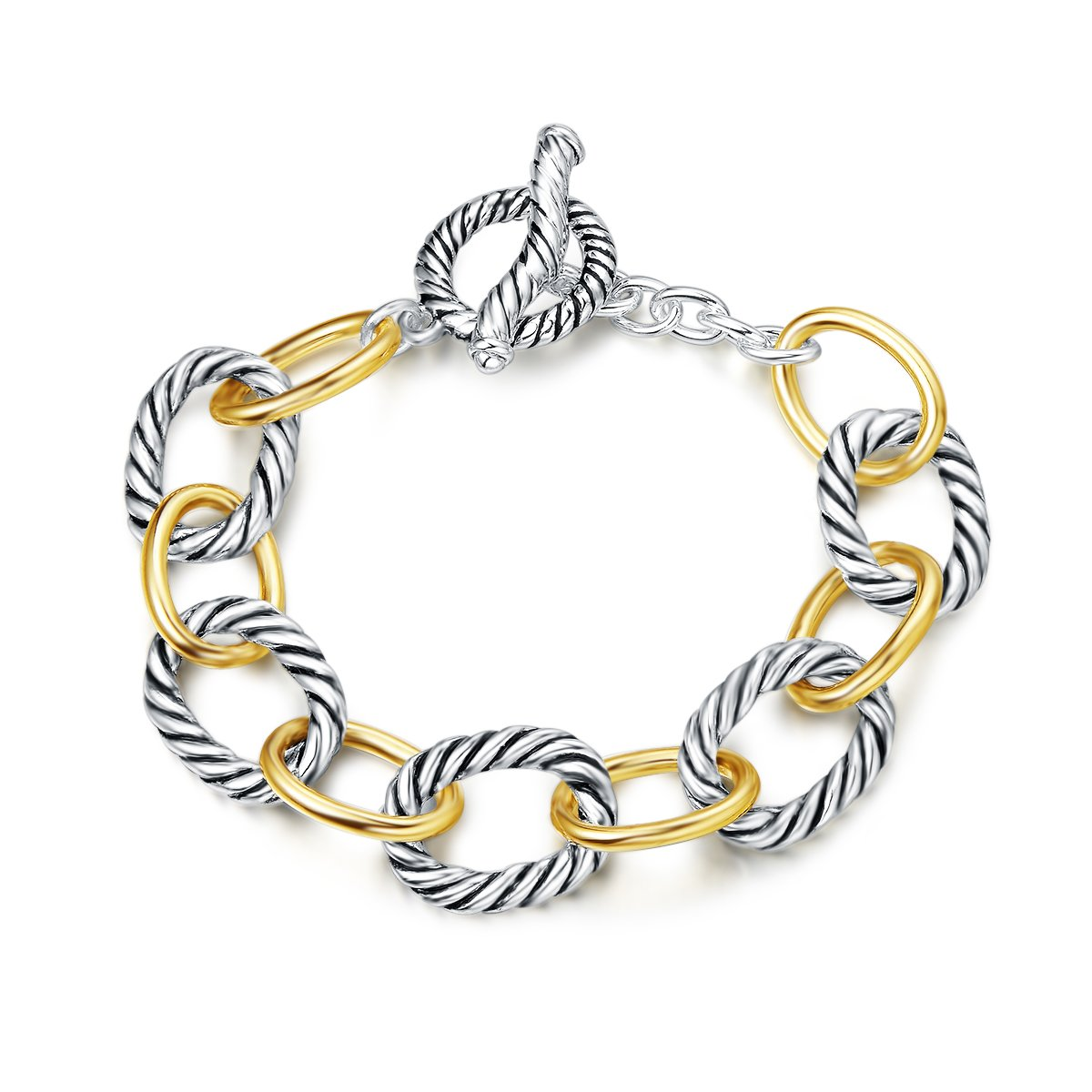 UNY Bracelet Designer Brand Inspired Antique Women Jewelry Cable Wire Vintage Valentine Christmas Gift UNY17077