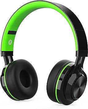 Auriculares Bluetooth Inalámbrico con Cancelación Ruido, MeihuaTu Sobre oreja Audífonos estéreo de Hifi con micrófono incorporado Compatible con tabletas PC Huawei Xiaomi Tv Mp4 (Verde): Amazon.es: Electrónica