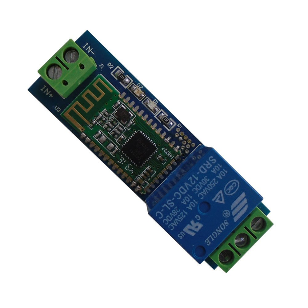 DSD TECH 12V Bluetooth Relay Module for Remote Control switch Compatible with iPhone and Android 4.3