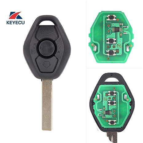 Keyecu EWS Remote Key Fob ID44 Chip for BMW E81 E46 E39 E63 E38 E83 E53 E36