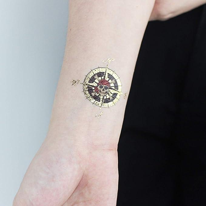 SZSMART Tatuaje Pirata Niños, Pirata Tatuajes Metalicos Temporal ...