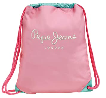 Pepe Jeans Bicolor Mochila Tipo Casual, 0.67 litros, Color Rosa: Amazon.es: Equipaje