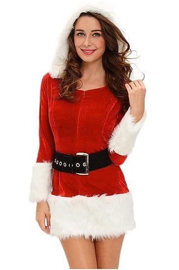 Shangrui Damen Cosplay Kostüme Outfit Rot Weihnachten Lange Ärmel ...