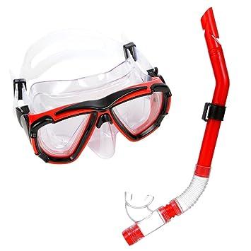 6c8aecbb347 Jucarvo Snorkel Mask Set - Kids Adult Recreation Mask Snorkeling Set -  Double Lens Diving Mask   Snorkel Glasses ...