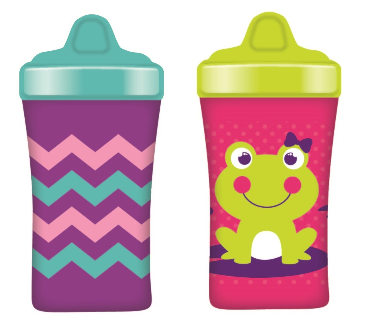 Gerber Graduates Advance Developmental Hard Spout Sippy Cup in Assorted Colors-2 Pack, 10-Ounce (Theme May Vary) NUK 78655