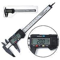 Ranipobo Vernier Caliper Electronic Digital LCD 150mm 6inch Plastic Caliper Gauge Micrometer Ruler Carbon Fiber Micrometer Measuring Tool
