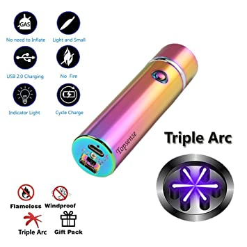 amazon com 360 triple arc usb rechargeable windproof electrical