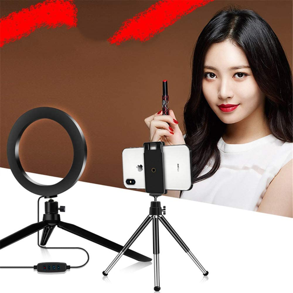 WODT 8 inch LED Ring Light with Tripod Stand Cell Phone Holder for YouTube Video and Live Stream//Makeup Photography