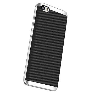 Xiaomi Mi 5 Funda, Estuyoya Protección interna TPU Flexible [Ultra Resistente] Marco Exterior Rígido PC efecto Metal [Anti Golpes] Carcasa Híbrida ...