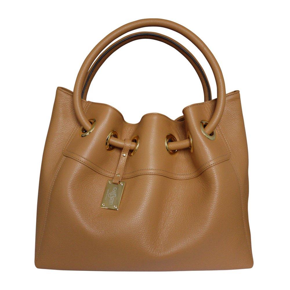 b044f0215803 Amazon.com  Carbotti Designer Italian Leather Hobo Bag Bucket Bag Shoulder  Handbag - Tan  Clothing