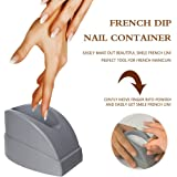 Elite99 Nail Art French Nail Dip Container Dipping Powder Mold Decals Nail Tips Guide For Perfect French Tip Smile Lines Manicure Nail Art Tool