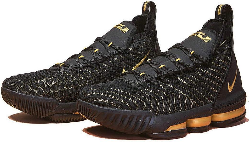 Lebron James 16 XVI Black Golden Zapatos de Baloncesto para Hombre ...