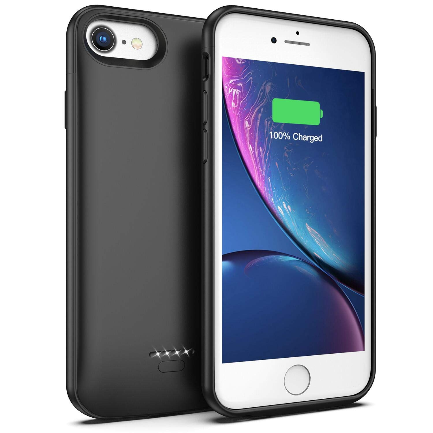 Battery Case for iPhone 7/8, 4000mAh Portable Protective Charging Case Compatible with iPhone 7/8 (4.7 inch) Rechargeable Extended Battery Charger Case (Black)