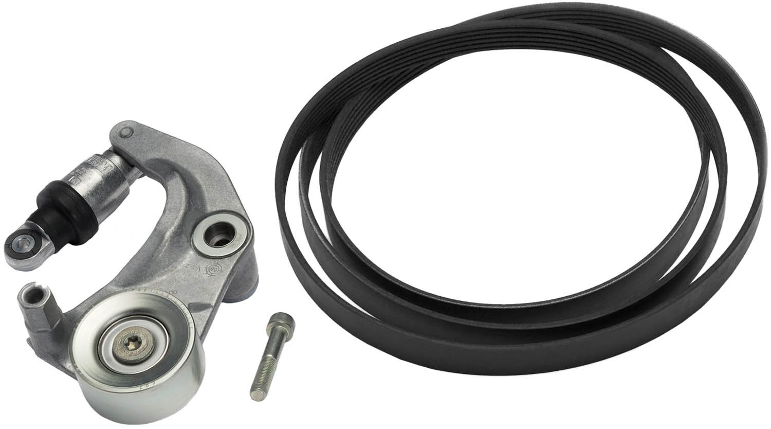 ACDelco 39054K Professional V-Ribbed Serpentine Belt Kit with Tensioner and Bolt