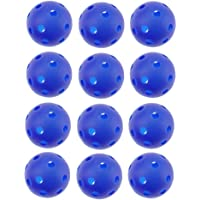 Crestgolf 40mm Plastic Airflow Golf Balls Also Suitable for Pets Playing Ball Pack of 12pcs 6 Colors for Choice