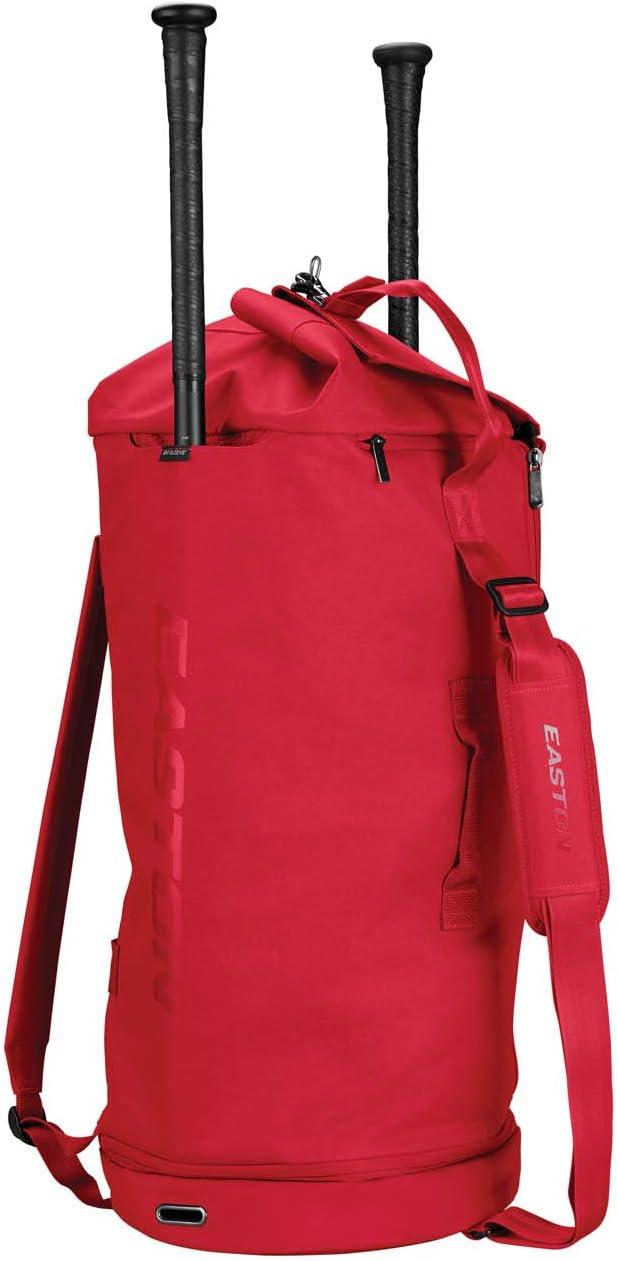 Baseball Softball Shoulder /& Backpack Straps Easy Gear Access with Full Length Side Zipper Fence Hook EASTON RETRO Bat /& Equipment Duffle Bag 2020 2 Bat Sleeves Vented Shoe Compartment