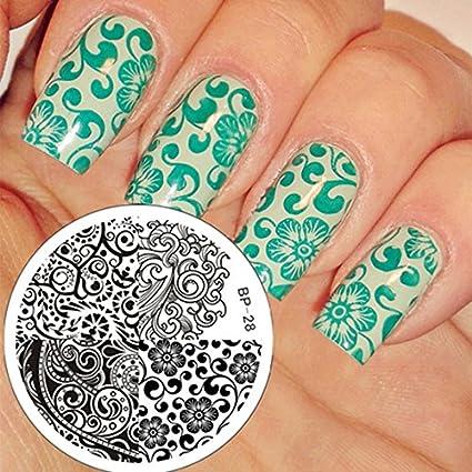 Nail Art Stamping Bild Metal Platte Nail Art Design Muster Vorlage Ozean Fisch - AP23 - FashionLife