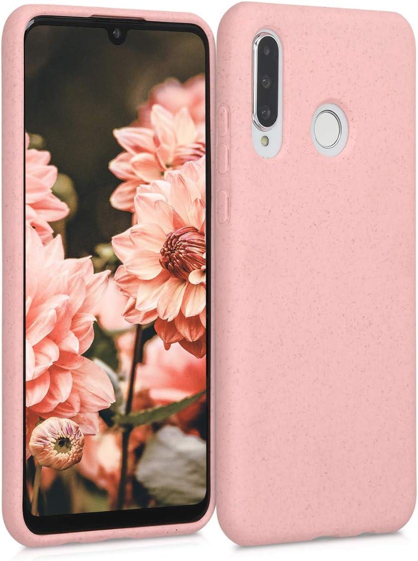 kalibri Funda Compatible con Huawei P30 Lite Carcasa Hecha de TPU y Trigo Natural ecológico - Rosa Chicle